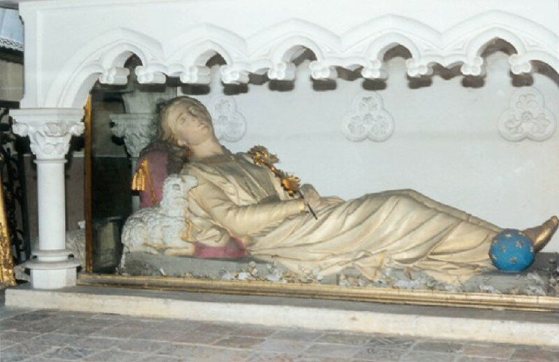 Sainte Alpais de Cudot (gisant)