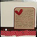 Un sketch ... des pois ... du biais plissé ... une carte pour apprendre à conjuguer le verbe aimer !