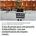 Je suis Charlie : Quand la <b>liberté</b> <b>d</b>'<b>expression</b> n'existe plus, c'est la <b>liberté</b> de pensée que l'on jette en prison - Mourot P