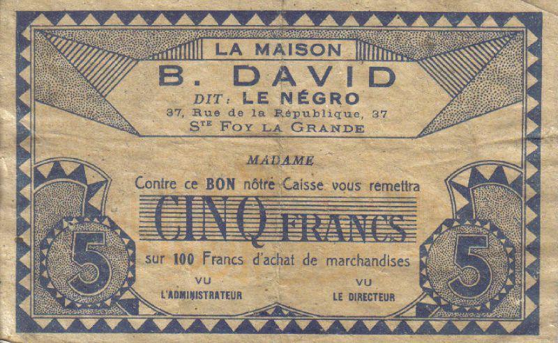 Pub de David Bouaknin, non datée 2