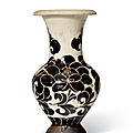 A very rare Cizhou sgraffiato 'Peony' vase, Northern Song dynasty (960-1127)