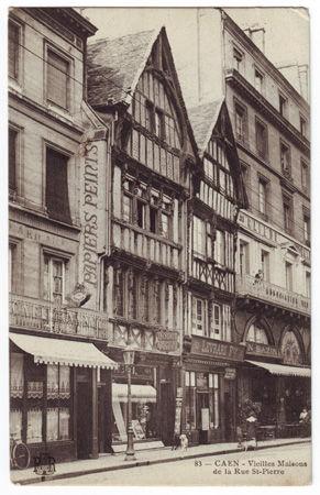 14 - CAEN - Vieilles maisons de la rue Saint Pierre