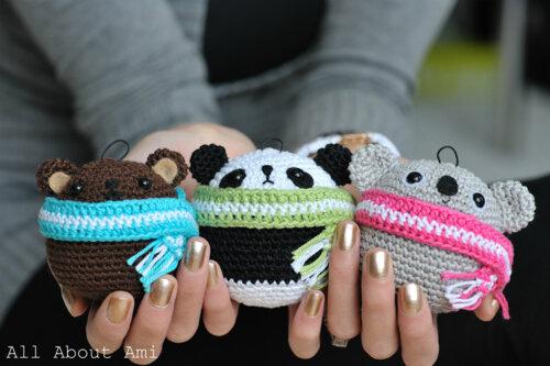 Amigurumi Tuto : Amigurumi panda au crochet panda a crochet para llavero panda