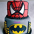 Gâteau batman & spiderman
