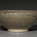 A Henan marbled '<b>feather</b>' bowl, Northern Song dynasty, 12th century