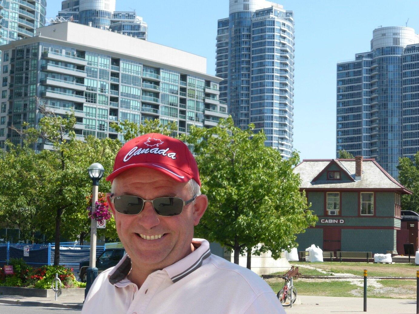 un canadien dans la ville