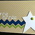 carte de voeux avec chevrons et étoile