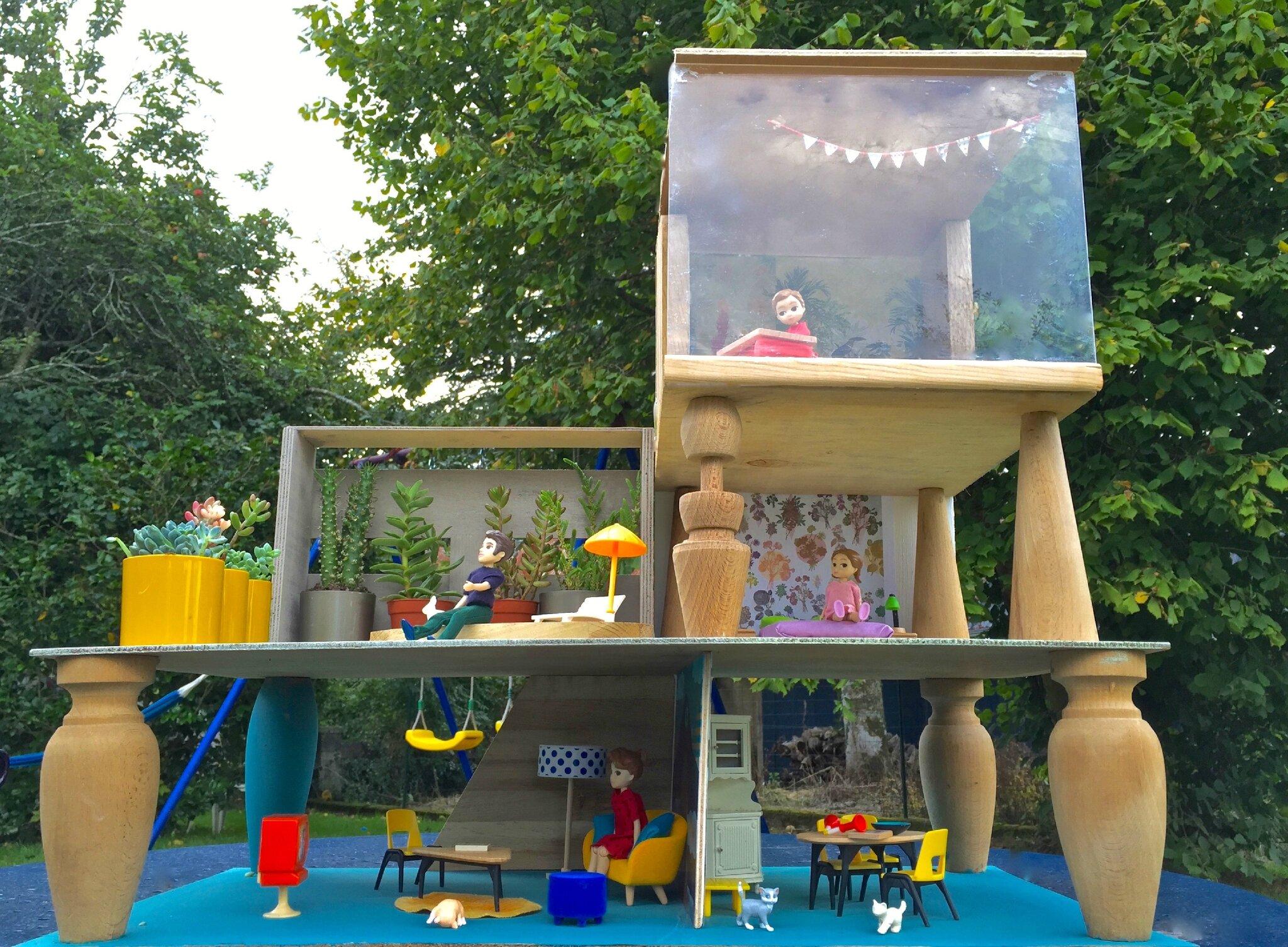 Maison de poupées fait maison