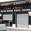 Fast foot + lyon rhône pizzeria