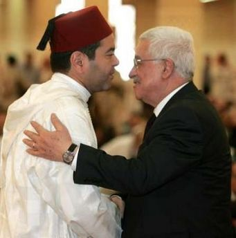 Prince Moulay Rachid and Palestinian President Mahmoud Abbas in Riyadh August 2, 2005