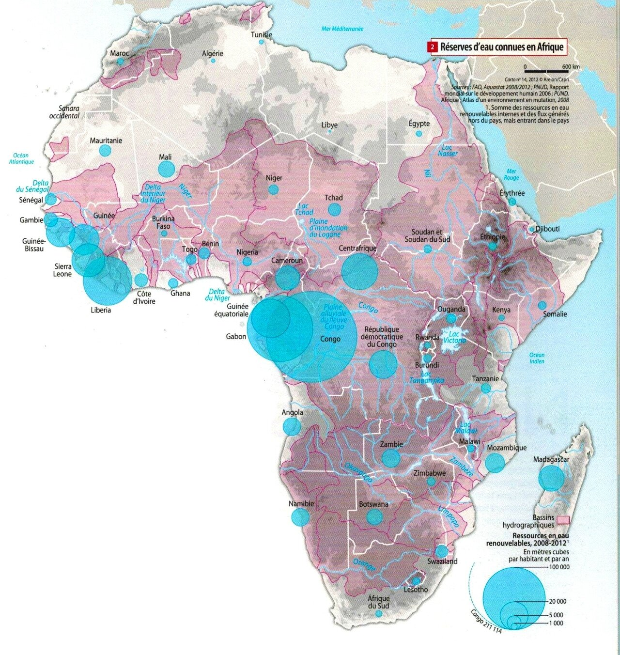 afrique-Renewable water resources in Africa