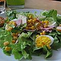 De la fraicheur avec une salade composée