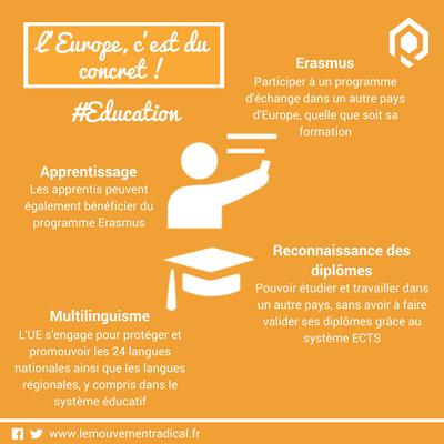 L'europe, c'est du concret ... et de l'éducation !