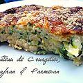 Gâteau de courgettes au safran et parmesan
