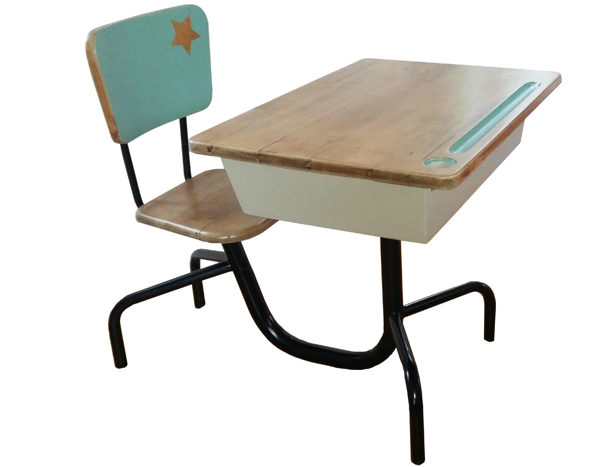 bureau d'écolier 50's - style Jean Prouvé