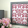 Tableau en tissu baroque