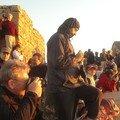 Au sommet du Mont Sinai, un petit peu de monde pour le lever du soleil
