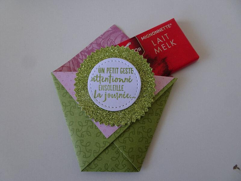 11f Swaps enveloppe avec mini chocolat
