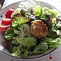 Crottins de chèvre panés sur lit de salade