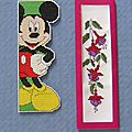 marques pages mickey et fuschias