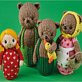 Goldilocks and three bears - Fairytales knit - Monica Fuertes