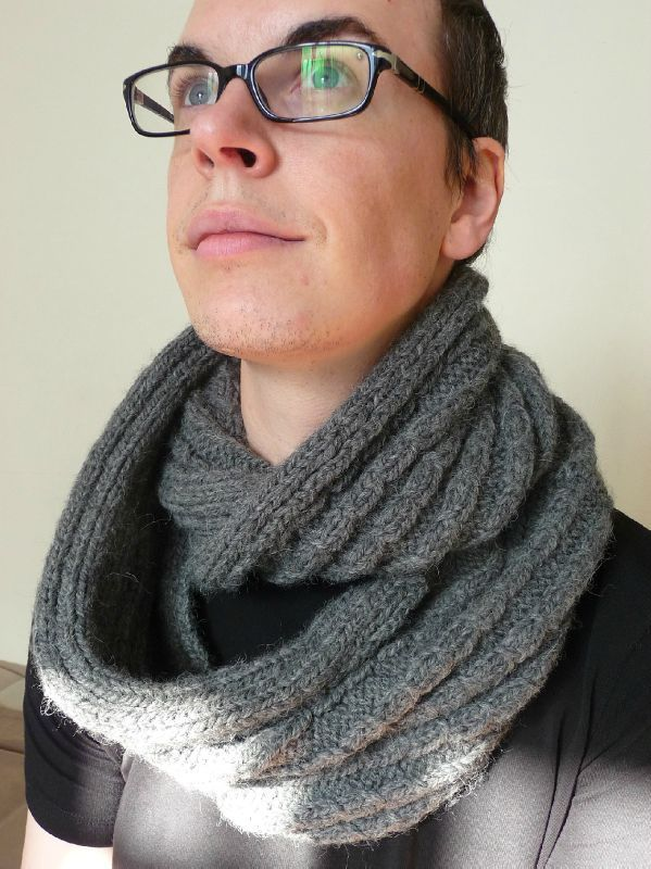 tricoter snood homme