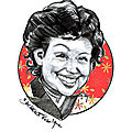 Roselyne Bachelot caricature