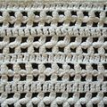 CROCHET D'ART DETAIL DU CHEMIN DE TABLE