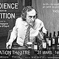 Vendredi 31 mars et samedi 1er avril 2017 à 20h30: audience suivi de pétition