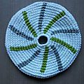 Frisbee tourbillon blanc