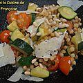 Fregola sarda aux légumes