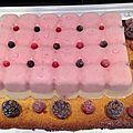 Bavaroise fruits rouge/ sur vanille et palet breton