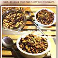 Granola aux flocons d'avoine, pommes et kamut soufflé