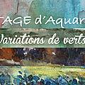 Prochains <b>stages</b> <b>d</b>'<b>aquarelle</b> à Annecy ou Alby-sur-chéran