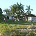 Village, sur le bord de l´Amazonie