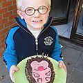 Gâteau hérisson de mon petit loulou!