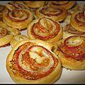 Roulrouls au jambon, tomates confites et comté