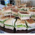 Mini club sandwich filet de dinde - crudités