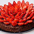 Gâteau chocolat-fraise