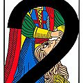 La carte du tarot la force, par vincent beckers