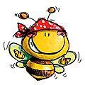 L'abeille heureuse