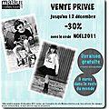 Vente privée décembre 2011 - mode et accessoire - code noel2011
