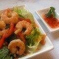 Salade de crevettes, d'inspiration thaïe