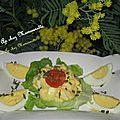 Œufs façon mimosa comme l'arbuste de saison