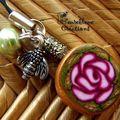 bijoux de portable rose