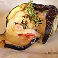 Rocamadour en papillotte d'aubergine