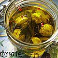 Les boules de labneh à l'huile de cioranette