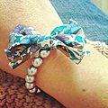 Bracelet à perles & liberty