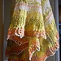 Icelandic Modern lace shawl printemps