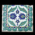 Rare Iznik Tile at Bonhams Indian and Islamic Sale in London